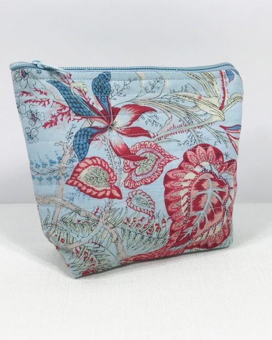 Liberty Blue Makeup Bag