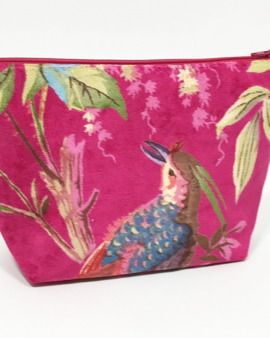 Hot Pink Paradise Cosmetic Bag