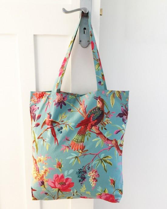 Paradise Dusty Aqua Tote Bag