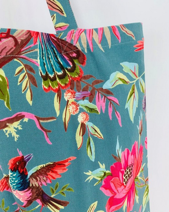 Paradise Dusty Turquoise Tote Bag