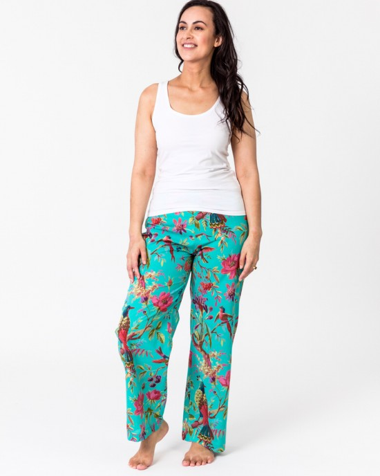 Paradise aqua green lounge pants with pockets