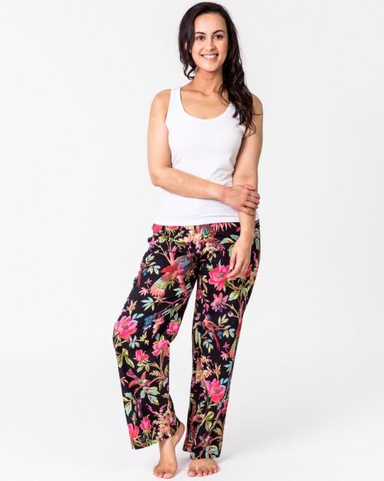 Paradise Black Lounge Pants with pockets